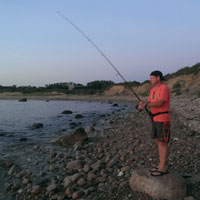sunset casting at dories cove