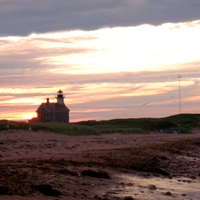sunset at north light