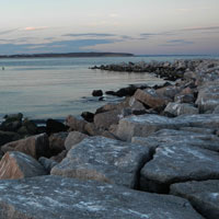 breakwater at old harbor, block island