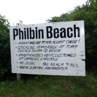 philbin beach sign