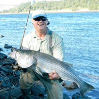 ron arra with big canal striper